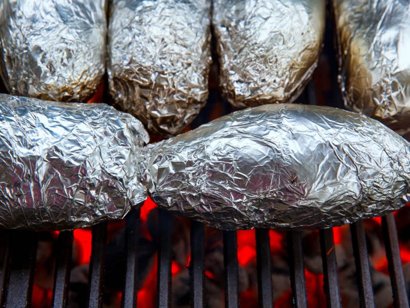Cooking Potatoes on the Grill with Foil