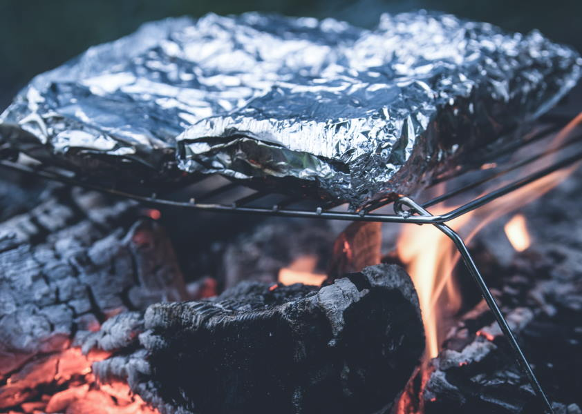 grill potatoes in foil